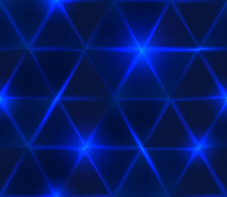Seamless blue geometric pattern. Abstract triangle glowing background. Vector illustration 向量圖像