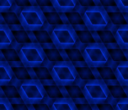 Seamless geometric pattern. Abstract blue glowing background. Vector illustration
