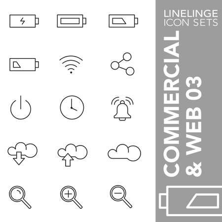 03: Thin Line Icons Commerecial & web 03