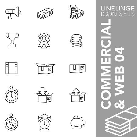 unpacking: Thin Line Icons Commerecial & web 04