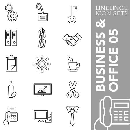 concatenation: Thin Line Icons Business & Office 05