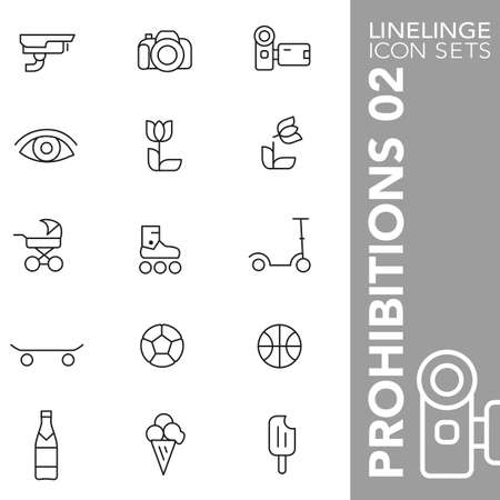 prohibitions: Thin Line Icons Prohibitions 02