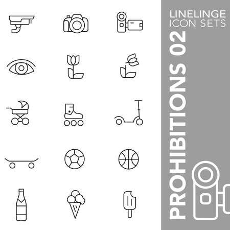 osh: Thin Line Icons Prohibitions 02
