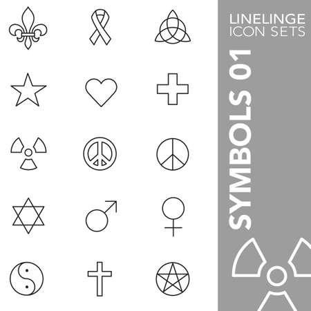 heathen: Thin Line Icons Symbols 01