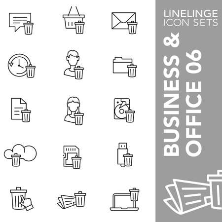 harddrive: Thin line icons Business and Office 06 Illustration