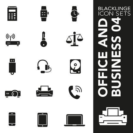 High quality black and white icons of Business and Office. Blacklinge are the best pictogram pack unique design for all dimensions and devices. Vector graphic, symbol and website content.