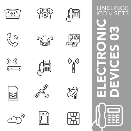 High quality thin line icons of electronic device. Linelinge are the best pictogram pack unique design for all dimensions and devices. Vector graphic, symbol and website content.
