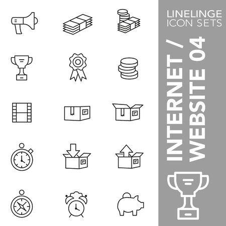 High quality thin line icons of internet and website content. Linelinge are the best pictogram pack unique design for all dimensions and devices. Vector graphic,  symbol and website content.