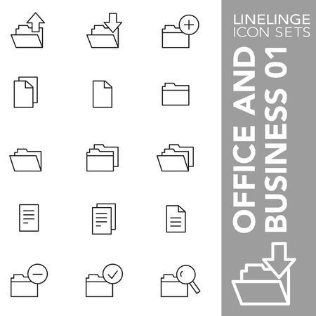 High quality thin line icons of Business and Office. Linelinge are the best pictogram pack unique design for all dimensions and devices. Vector graphic,  symbol and website content Standard-Bild - 128798466