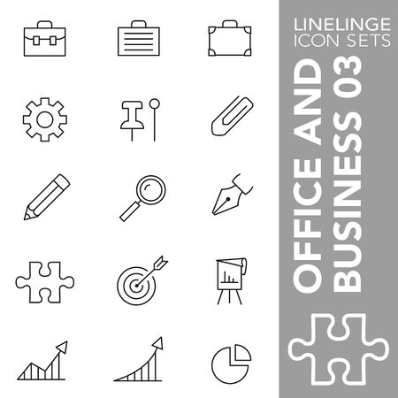 High quality thin line icons of Business and Office. Linelinge are the best pictogram pack unique design for all dimensions and devices. Vector graphic,  symbol and website content