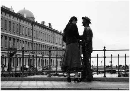 trieste: James Joyce statue on Trieste bridge