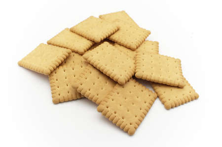 Biscuits over white background