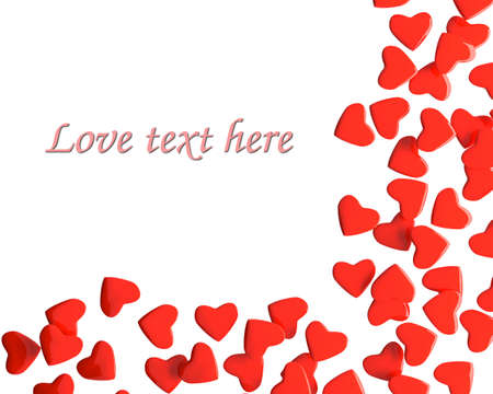 Valentine hearts with sample text photo