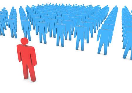 3D rendering of team leadership concept.