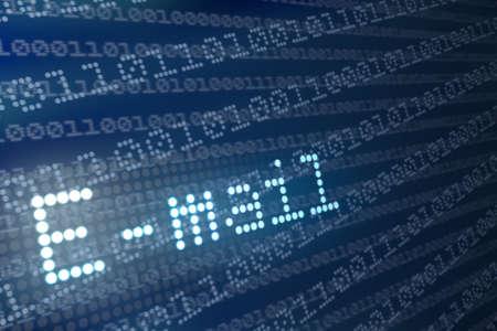 protocols: E-mail astratto concetto di testo. Rendering 3D. Archivio Fotografico