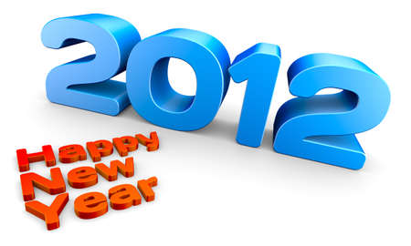 Happy new year 2012, a 3D concept rendering. Stock Photo