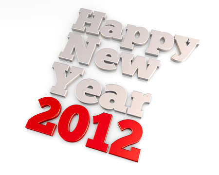 Happy New Year 2012, a 3D rendering concept