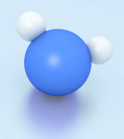 3D rendering of water H2O molecule. Stock Photo