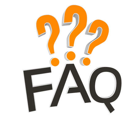 frequently asked question: Frequently Asked Question 3D rendered concept