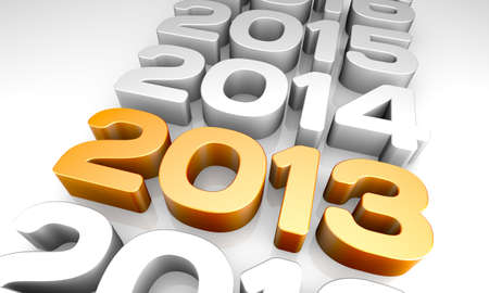 NEW YEAR 2013 and previous years concept