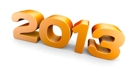NEW YEAR 2013 concept  A 3D rendering