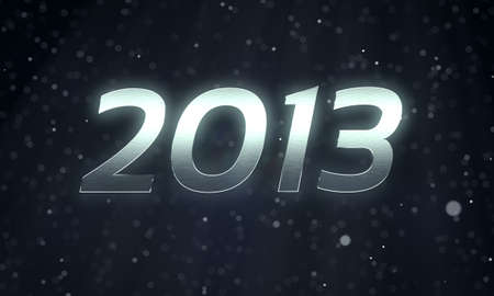 2013 The New Year 3D rendering concept