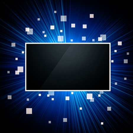 Image of computer or television screen with some pixels