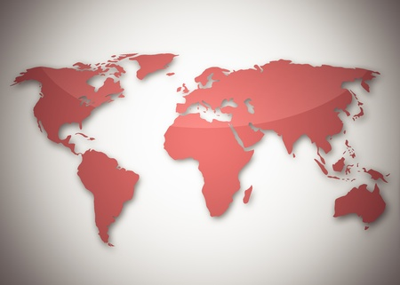 Image of a light red world map