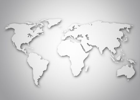 world globe map: Image of a stylized world map Stock Photo