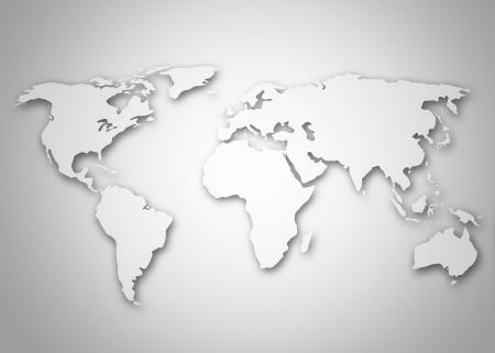 digital world map: Image of a stylized world map Stock Photo