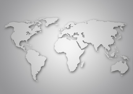 Image of a light grey stylized world map