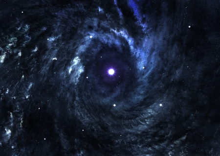 Awesome space background with the explosion of star