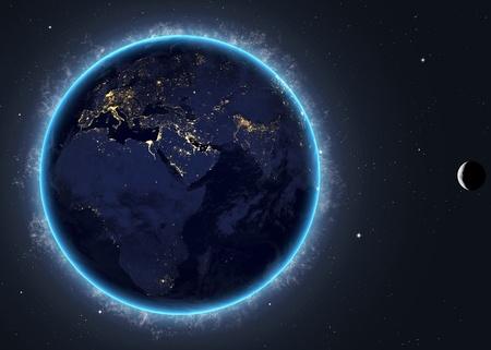 stabilizer: Blue Earth in space Modern Flat Design