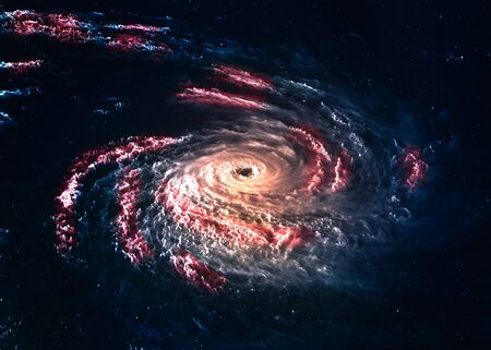 somewhere: Incredibly beautiful galaxy somewhere in deep space.