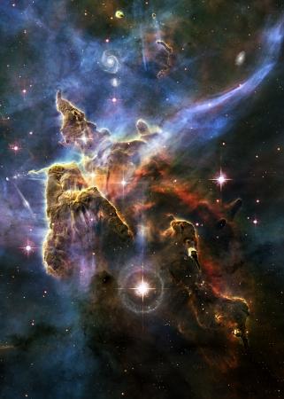 Hvězda pole v hlubokém vesmíru mnoho světelných let daleko od Země