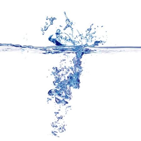 water energy: Water splash isolated on white
