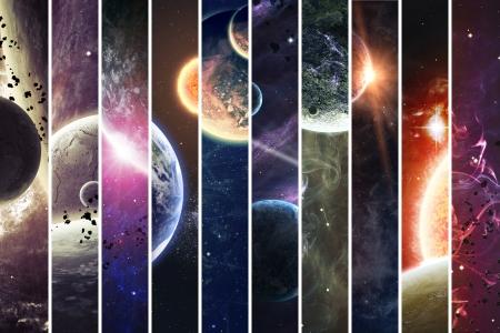 sol y luna: Colección de banderas para el sitio web
