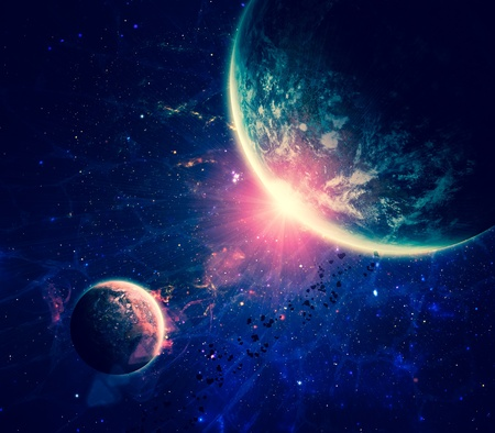 Beautiful space background photo