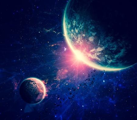 the universe: Fondo del espacio Hermosa