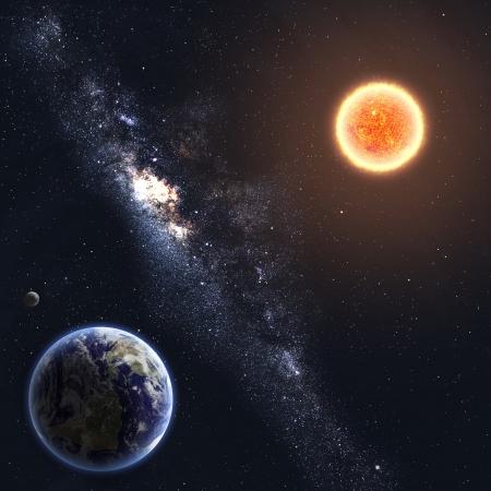 Země a Slunce Prvky tohoto snímku poskytnutých NASA