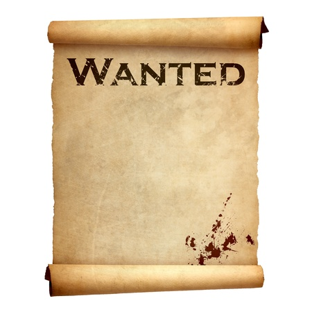 cowboy background: Old wanted poster