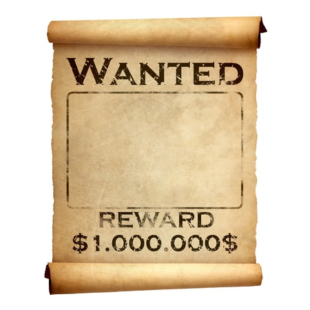 Old wanted poster photo