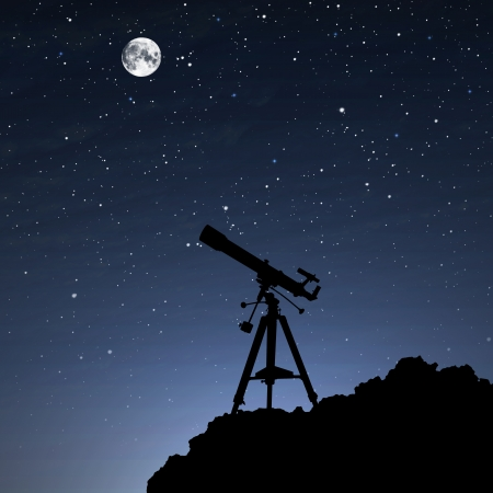 Silhouette of  Telescope
