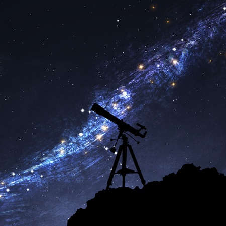 telescope: Silhouette of  Telescope