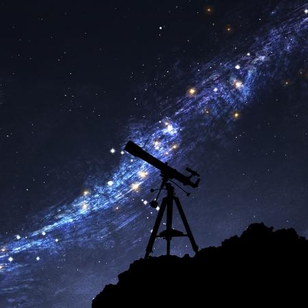 milky: Silhouette of  Telescope