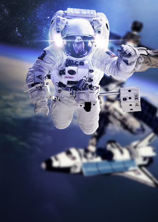 The astronaut in the space