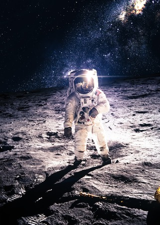 astronauts: Astronaut on the moon