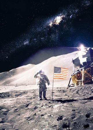 shuttle: Astronaut on the moon