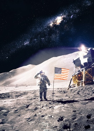 cosmonaut: Astronaut on the moon