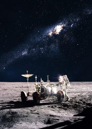 달에 우주 비행사